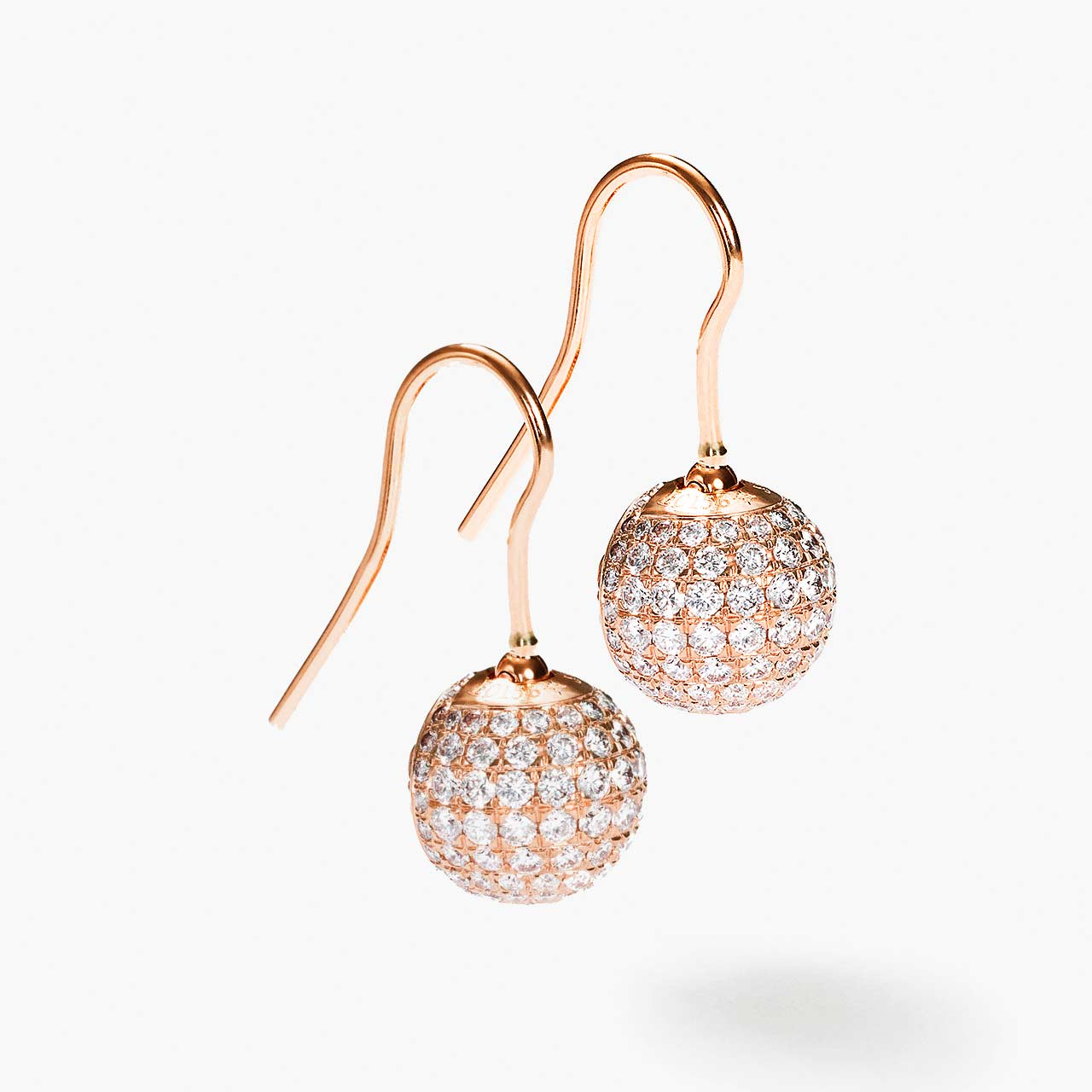 Pavé Bead Hook Earrings
